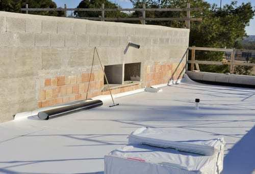 A site where TPO roofing is being installed.