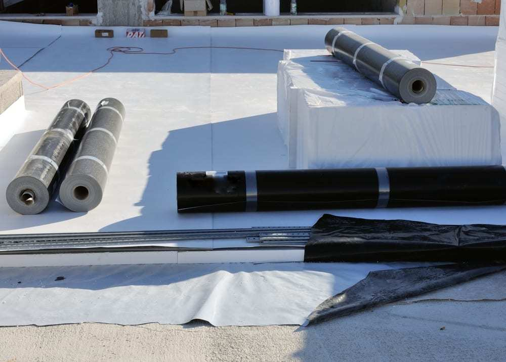 Waterproofing and insulation for PVC roof