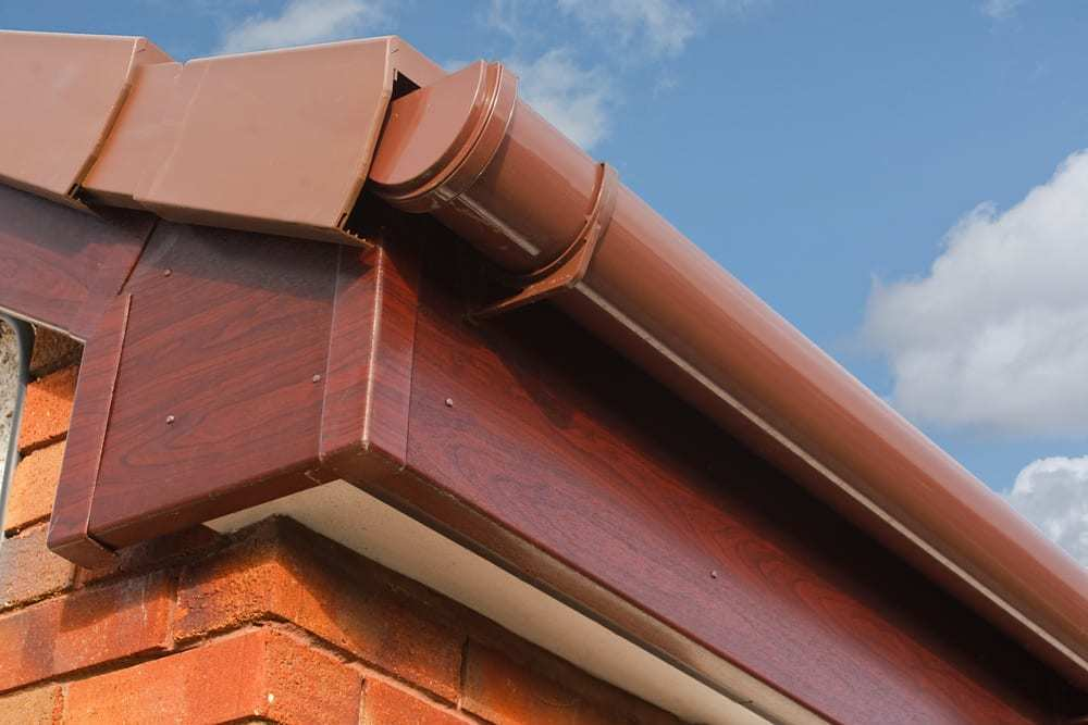 Brown Fascia with Brown Gutter