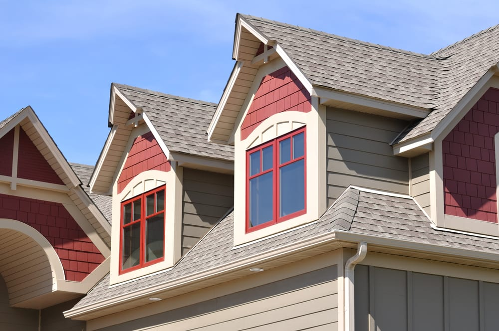Close-up of residential roof